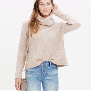 Madewell Roundtrip Fuzzy Soft Turtleneck Sweater S